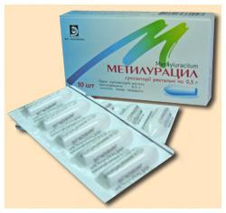 Метилурацил  таб. 0,5 №10