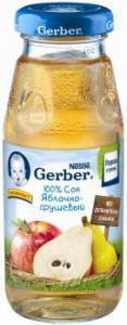 Сок Гербер яблоко груша 175 мл