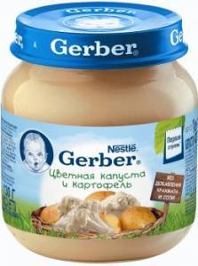 Пюре Гербер картофель, цветная капуста 130 г