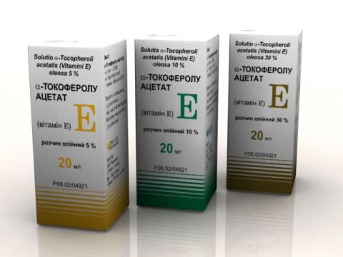 Токоферолу ацетат р-н масл. 10% - 20 мл