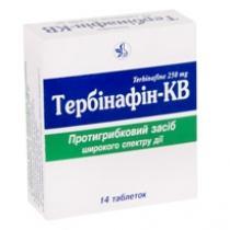 Тербинафин КВ таб. 250 мг №14
