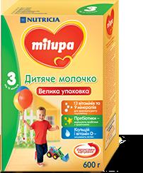Смесь Милупа 3 детское молочко 600 г