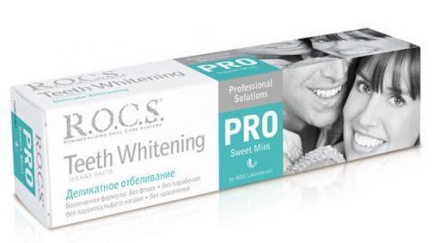 зуб.паста Rocs PRO деликатное отбелив Sweet mint 135 г