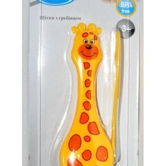 щетка и расческа для волос жираф LI600