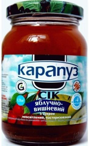 сок Карапуз ябл вишня неосветлен 200 мл