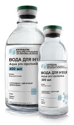 вода д/иньекции 400 мл
