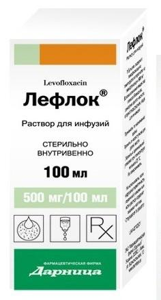 лефлок р-р д/инф. 500 мг/100мл 100мл