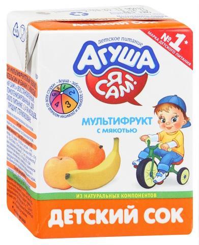 сок Агуша мультифрукт 200 г