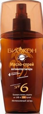 БИОКОН масло-спрей для загара активатор SPF 6 165 мл