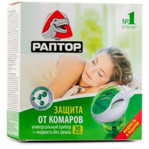 РАПТОР комплект с жидкостью 30 ночей