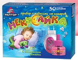 РАПТОР комплект с жидкостью Некусайка 30 ночей