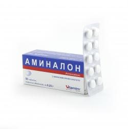 Аминалон таб. п/об. 0,25 №50