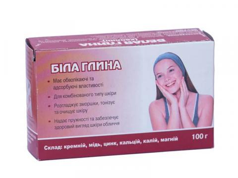 глина косметич.белая 100 г