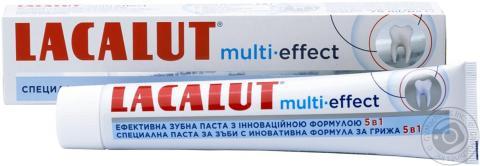 лакалут мульти-эффект 5 в1 паста зубная 75,0