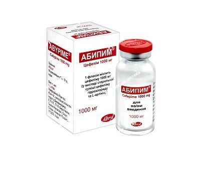 Абипим пор. д/приг. ін. р-на 1000 мг №1