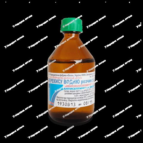 Перекису водню  р-н 3% - 40 мл у флаконі