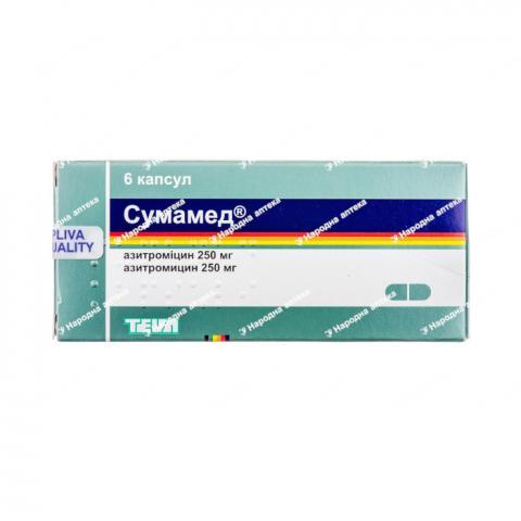 Сумамед капс. 250 мг №6