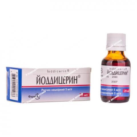Йоддицерин р-н 25 мл