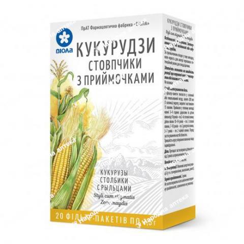 Кукурудзи стовпчики  по 1.5 г  в фільтр-пакетах  №20