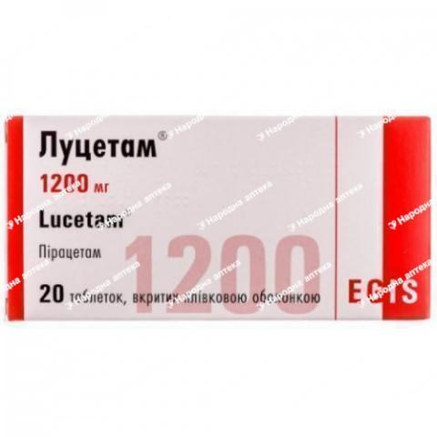 Луцетам таб. в/об. 1200 мг №20