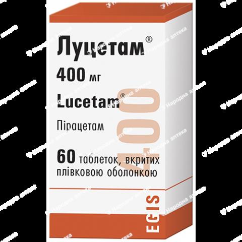 Луцетам таб. в/об. 400 мг №60