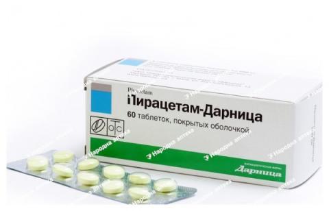 Пірацетам Дарниця таб. в/об. 200 мг № 60