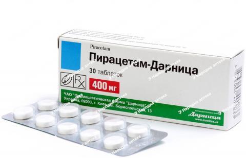 Пірацетам Дарница таб. 400 мг №30