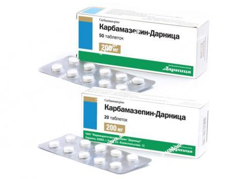 Карбамазепін -Дарниця таб. 200 мг №50