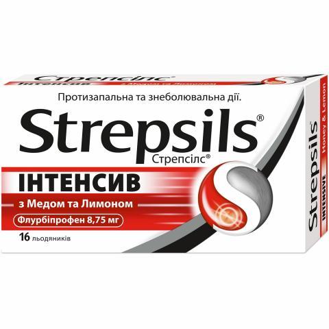 Стрепсилс интенсив мед-лимон леденцы 8,75 мг № 16