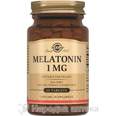 Солгар мелатонин таб. 1 мг №60