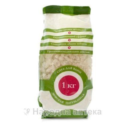 Соль д/ванн Эленси морская 1 кг