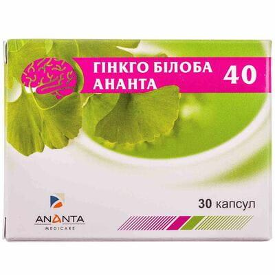 гинкго-билоба Ананта капс. 40 мг №30