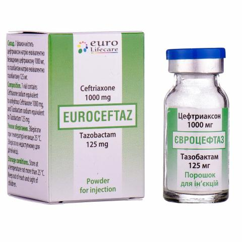 евроцефтаз пор. д/ин. 1125 мг №1
