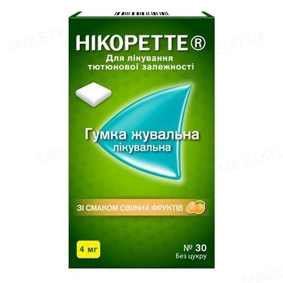 Нікоретте свіжі фрукти жеват. рез. 4 мг №30