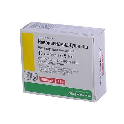 новокаїнамід Дарниця д / ін 10% - 5 мл №10