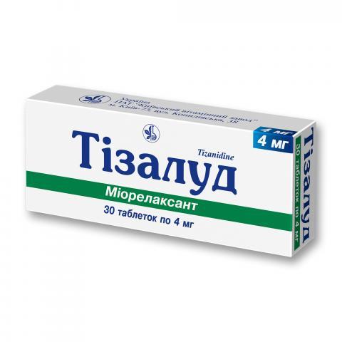 Тізалуд таб. 4 мг №30