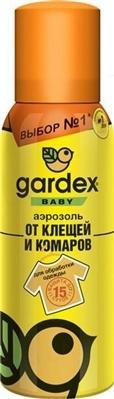 Гардекс бэби аэрозоль от клещей и комаров (д/обраб.одежды) 100 мл