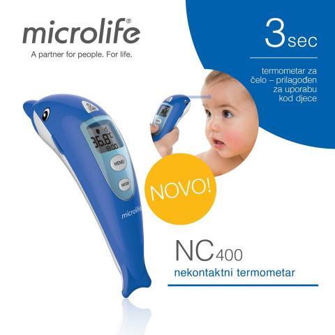 термометр мед. электр. инфракрасный лобный Microlife NC 400