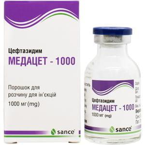 медацет 1000 пор. д/приг. ін. р-ра 1000 мг №1