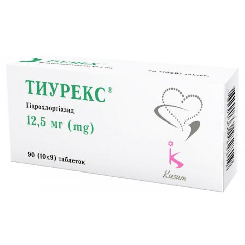 тиурекс таб. 12,5 мг №90