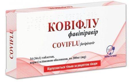 ковифлу таб. п/пл. об. 200 мг №34